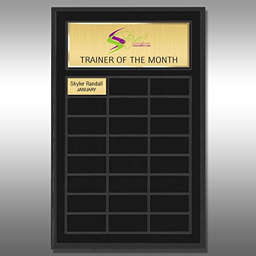 Perpetual Plaque - Matte Black MB-PPQ24 (Monthly Perpetual Plaques)