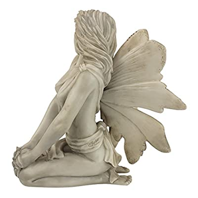 Design Toscano PD1549  The Enchanted Garden Fairies Colleen Statue,antique stone: Home & Kitchen
