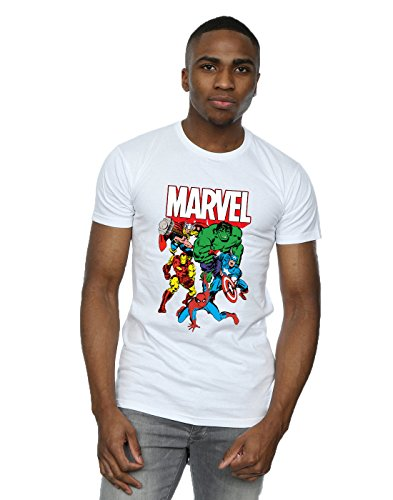 Group Homme shirt Marvel Hero T Bianca IOqCw