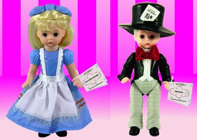 2010 McDonald Happy Meal Madame Alexander Alice in Wonderland & Mad Hatter - Madame Alexander Alice Doll Wonderland In