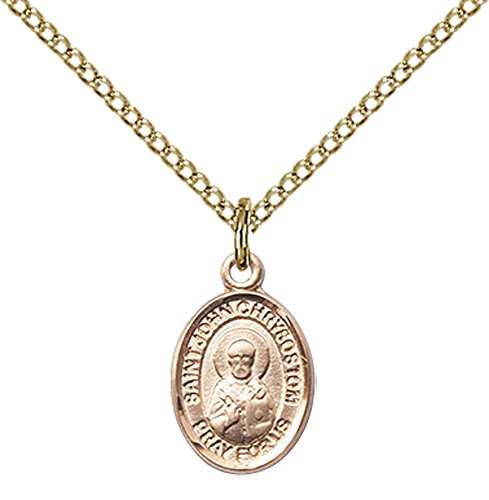 F A Dumont 14kt Gold Filled St. John Licci Pendant with 18
