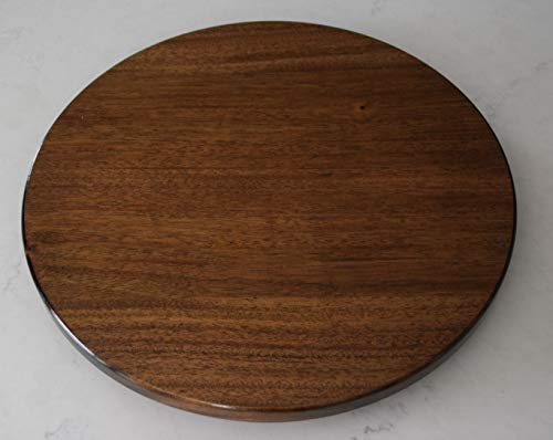 - 18 inch wood Mahogany Lazy Susan with a Dark Walnut stain