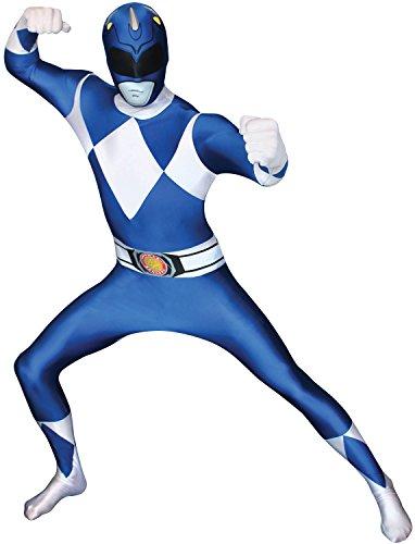 Official Power Ranger Morphsuit Costume,Blue,X-Large 5'10-6'3