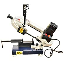 Bolton Tools BS-85 Horizontal/Vertical Bandsaw 3 Inch x 4 Inch Metal Cutting Portable Band Saw