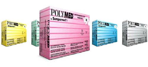 Sempermed Latex Gloves Polymed Latex Powder-free Examination Gloves 10 Boxes/1000 Gloves (Medium) by Polymed
