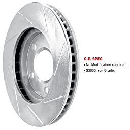 R1 Concepts KES11134 Eline Series Slotted Rotors And Ceramic Pads Kit - Front
