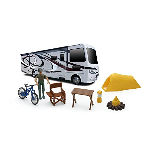 Modern RV with Camp Set and Figure by New Ray (1/32 scale?) -