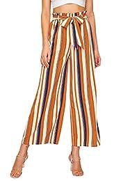 SweatyRocks Palazzo - Pantalón de Cintura Alta para Mujer