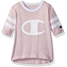 Champion Little Heritage Girls Rugby Style Long Sleeve Tee