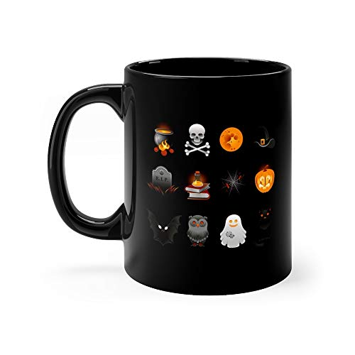 Halloween Icons Set Cooking Skull Coffee Mug Ceramic 11 Oz Cup