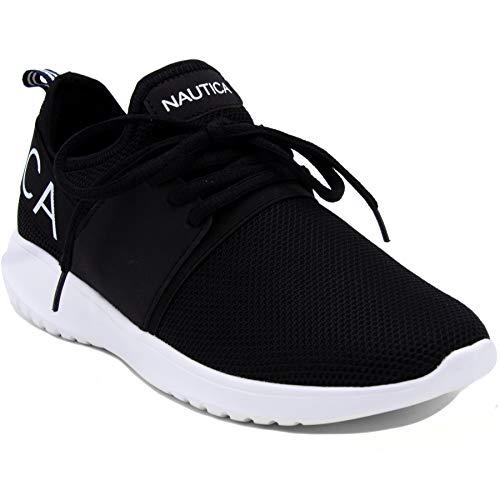 Nautica Women Fashion Sneaker Lace-Up Jogger Running Shoe-Black ()