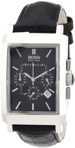 Hugo Boss Women's 30mm Black Leather Quartz Date Watch 1512258