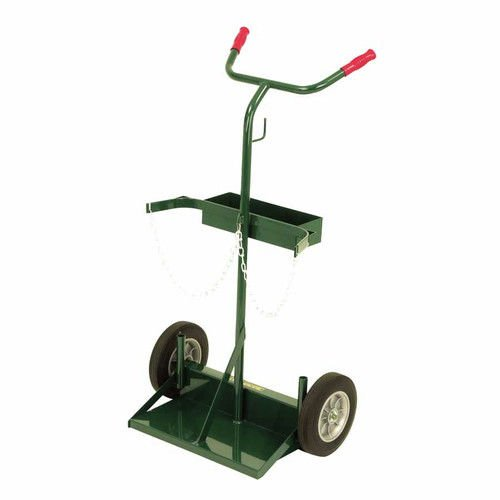 Harper Trucks 142-86 46-Inch High by 28-Inch Wide Deluxe Welding Cylinder Hand Truck with 10-Inch Solid Rubber Wheels (Box Deluxe Control)