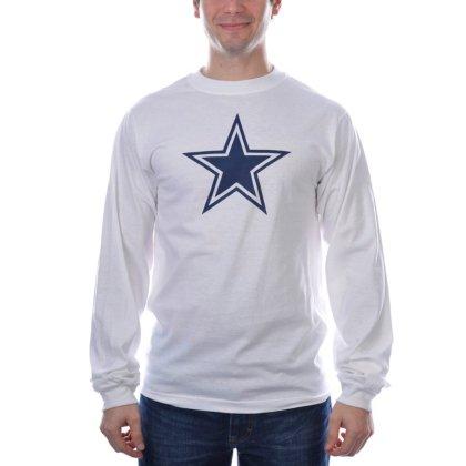 - Dallas Cowboys White Logo Premier Long Sleeve T-shirt Medium