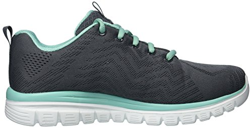 Charcoal Graceful Sport Skechers Trim Connected Women's Get Green qUWXnTwEHc