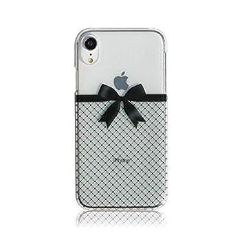 4d1135b082 MRLab iPhoneケース iPhoneXRケース アイフォンXRケース かわいい リボン 【 網タイツ 】 ハードケース