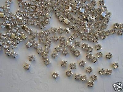 50 AA Glass Rhinestone Diamond Stud 4mm Accent/Trim/Bead/Craft/Crystal Clear #ID-18