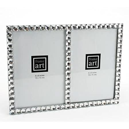 Double Crystal Diamante Photo Frame Two 6 x 4 inch Frames: Amazon.co ...