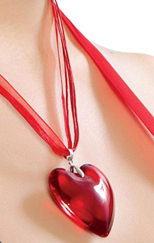 Sexy Queen Of Hearts Heart Necklace Halloween Accessory