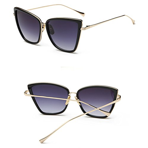 Sunglasses lunettes 1 Cat Eye soleil de Zhhlinyuan Gradient Ladies Women Fashion Driving Sunglasses XawcBBq1P7