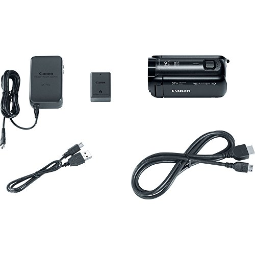 Canon VIXIA HF R800 Full HD Camcorder Travel Bundle, includes: 32GB SDHC Memory Card, LED Light, Telephoto Lens, Tripod, Spare Battery and more... by Canon (Image #3)