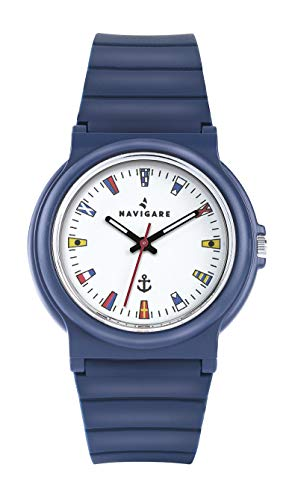 Navigare Rio NA252 Water Resistant Silicone Strap Nautical Flags Dial Free Bracelet
