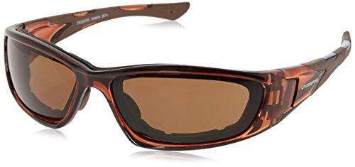 Crossfire MP7 HD brown anti-fog lens, crystal brown frame, foam - Foam Lined Sunglasses