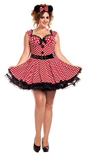 Missy Mouse Adult Costume - Plus Size 2X]()