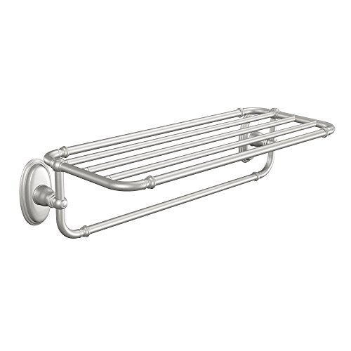 Moen YB5494BN Kingsley Towel Shelf, Brushed Nickel ()