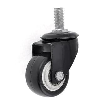 DealMux 1/4 PT Threaded Dia 1.8 Rodada roda de metal padaria Lavandaria Carrinho Caster