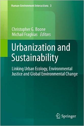 Urbanization and Sustainability: Linking Urban Ecology ...