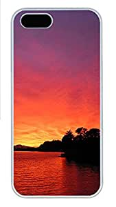 iPhone 5s Case, iPhone 5s Cases - Red dusk views Custom Design iPhone 5s Case Cover - Polycarbonate