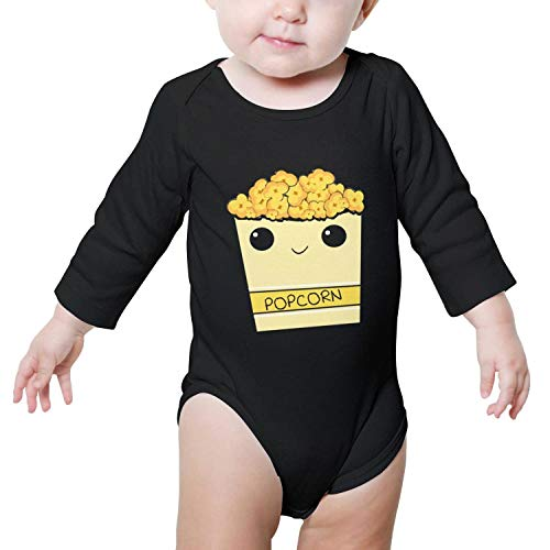 Price comparison product image Ngjdshfk Cute Popcorn Cotton 0-24 Months Babies Gift Long Sleeve Baby Onesies Romper
