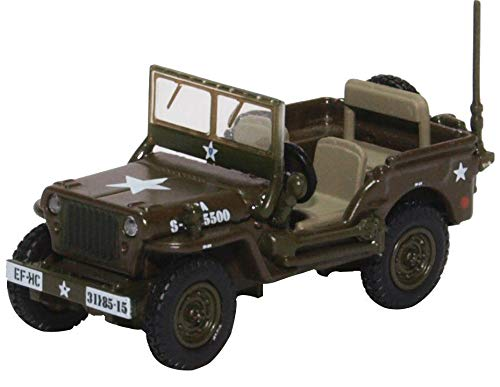 (Oxford Die Cast 1:76 Scale Willys Jeep Model B US Army)