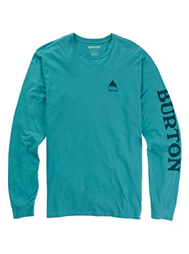 - Burton Men's Elite Long Sleeve Tee, Green-Blue Slate, X-Small