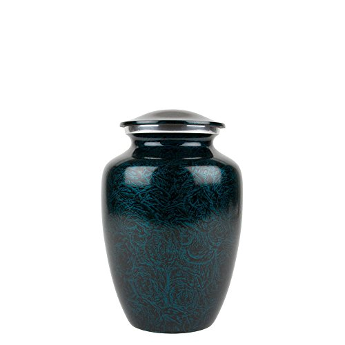 Perfect Memorials Medium Deep Blue Sea Brushed Cremation Urn