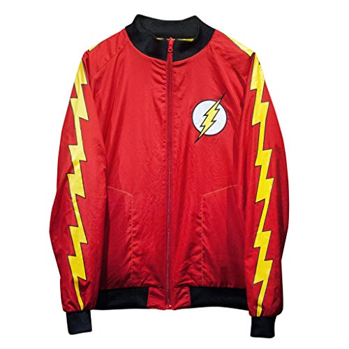 Track Reversible Jacket - The Flash Justice League Reversible Track Jacket - Yellow/Red (X-Large)