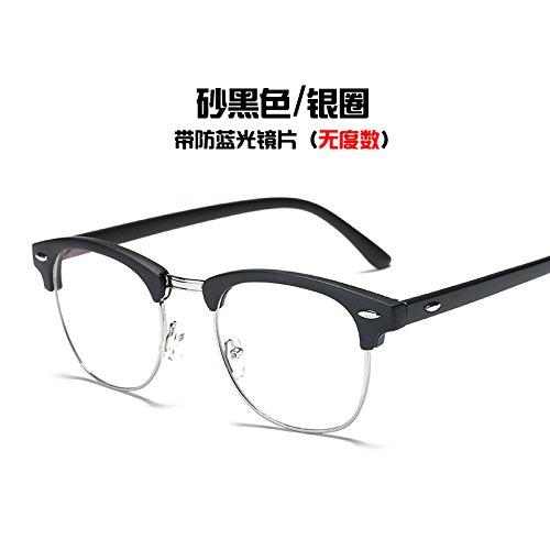 gafas Sand marea Black Equipo bastidor azul negro plata KOMNY de radiación Gafas Silver anillo gafas y Ring del brillante Raqpnt8wZ