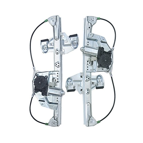 VioGi Fit Rear Driver (Left) + Rear Passenger (Right) Side Power Window Regulator w/ Motor For 00-05 Cadillac DeVille ()