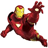 Marvel Superhero Comic - Tony Stark Iron Man Giant Wall Decal - Pre-cut Peel and Stick Sticker Decor Party Decaration