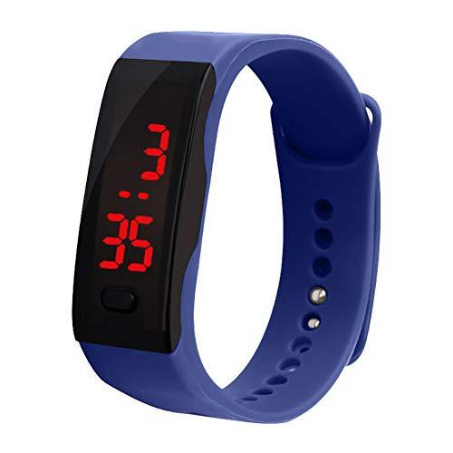 dzsntsmgs Unisex Backlight Date Display Digital Wrist Watch Waterproof Smart Bracelet - Sapphire Blue Waterproof, Soft, Sports Style, Life Waterproof ()