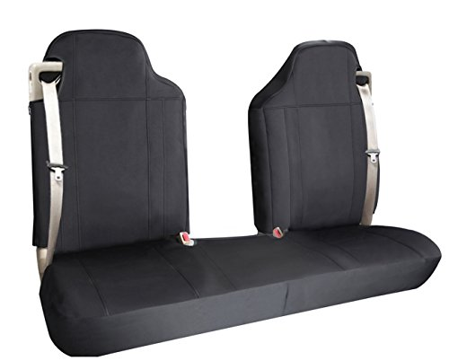 Leader Accessories Black Seat Cover for Ford Chevrolet,Dodge,GMC Pick up Truck Car - Built in Seatbelt