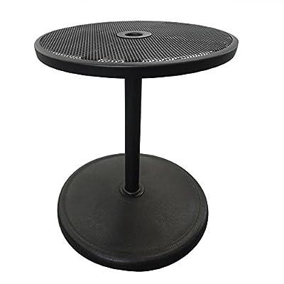 "Island Umbrella NU5392 Umbrella Base with Adjustable Table Top, 19.68"" x 19.68"" x 44.48"" Black"