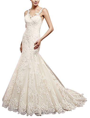 neuesten Elfenbein schlepp Spitze Brautkleid BRIDE Hochzeitskleid GEORGE Spitzen weisser schwarzen 5zqa6xPw