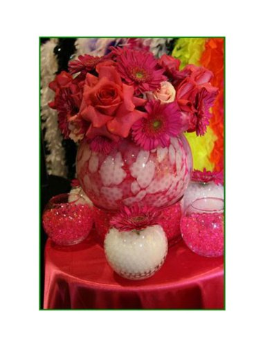 Water Pearls Gel Beads- Wedding & Event Centerpieces- Cosmo Beads (Tm)-makes 6 Gallons (8 Oz Pack) (Pink)