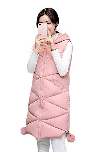 インフレーションドア渦SHUNYI 秋 冬 レディース ダウンコート ベスト ロング丈 着痩せ 修身 チョッキ ダウン ベスト ノースリーブ 中綿ベスト シンプル ファッション
