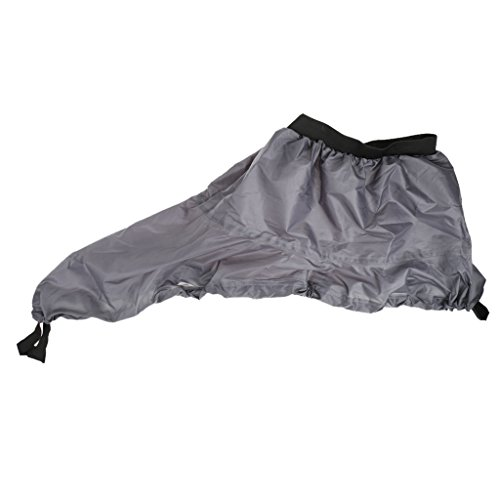 MagiDeal Universal Nylon Marine Boat Canoe Kayak Splash Spray Skirt Deck Sprayskirt - Gray Nylon Spray Skirt