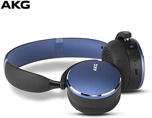 AKG Y500 On-Ear Foldable Wireless Bluetooth Headphones- Blue (US Version)