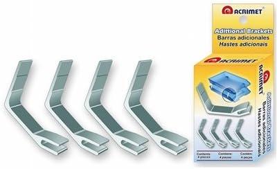4/pezzi Acrimet metallo staffe di supporto impianto doppio vassoio