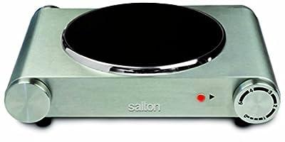 Salton HP1502 Single Burner Infrared Cooking Range, Stainless Steel